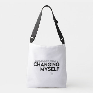 QUOTES: Rumi: Changing myself Crossbody Bag