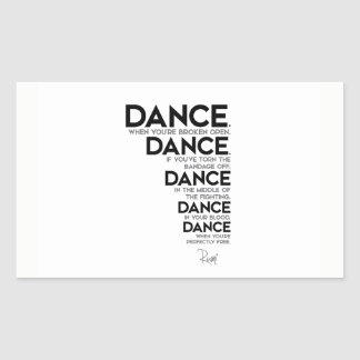QUOTES: Rumi: Dance, dance, dance Sticker