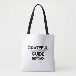 QUOTES: Rumi: Guide from beyond Tote Bag