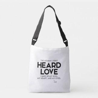 QUOTES: Rumi: Heard love Crossbody Bag