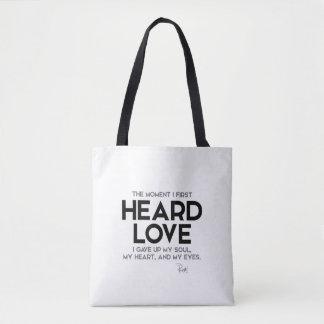 QUOTES: Rumi: Heard love Tote Bag