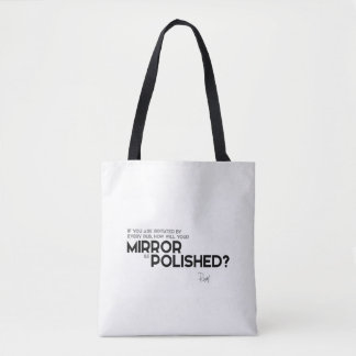 QUOTES: Rumi: Irritated by every rub Tote Bag