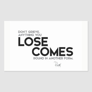 QUOTES: Rumi: Lose comes round Sticker