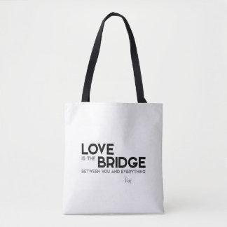 QUOTES: Rumi: Love, bridge Tote Bag