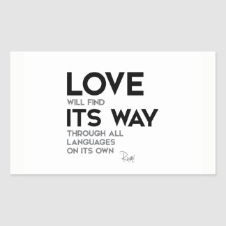 QUOTES: Rumi: Love find its way Sticker