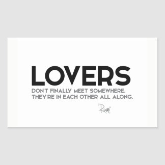 QUOTES: Rumi: Lovers Sticker
