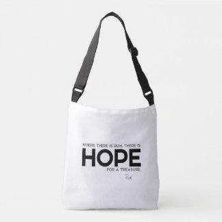 QUOTES: Rumi: Ruin, hope Crossbody Bag