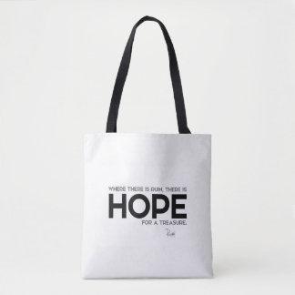 QUOTES: Rumi: Ruin, hope Tote Bag