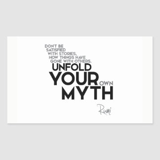 QUOTES: Rumi: Unfold your myth Sticker