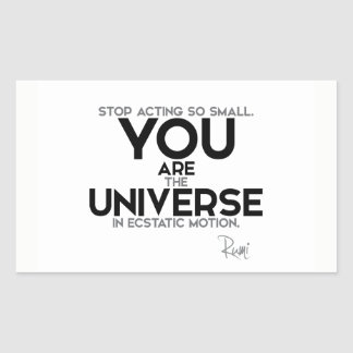 QUOTES: Rumi: You are the universe Sticker