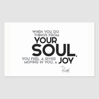 QUOTES: Rumi: Your soul, joy Sticker