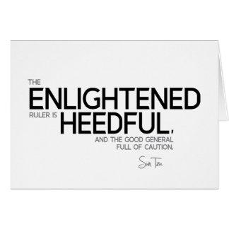 QUOTES: Sun Tzu: Enlightened ruler Card