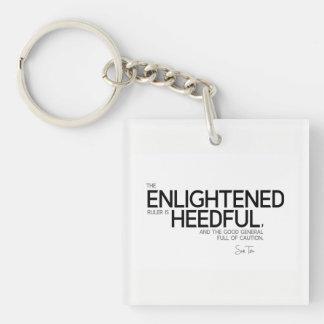 QUOTES: Sun Tzu: Enlightened ruler Keychain