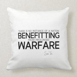 QUOTES: Sun Tzu: Prolonged warfare Throw Pillow