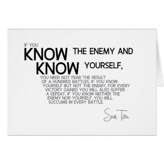 QUOTES: Sun Tzu: Supreme art of war Card