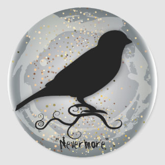 Quoth the Raven Classic Round Sticker