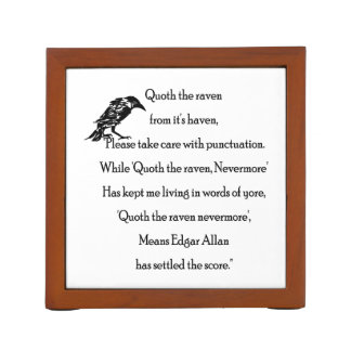 Quoth the Raven From it's Haven Desk Organizer