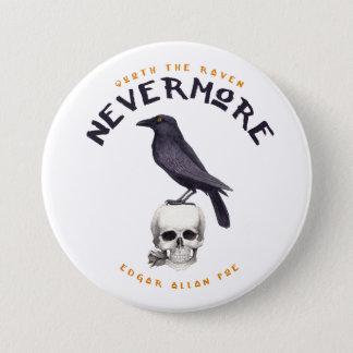 Quoth the Raven Nevermore - Edgar Allan Poe 3 Inch Round Button
