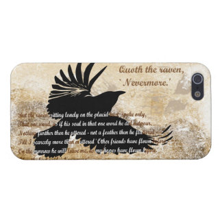 Quoth the Raven Nevermore Edgar Allan Poe iphone5 Cover For iPhone 5/5S