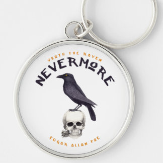 Quoth the Raven Nevermore - Edgar Allan Poe Keychain