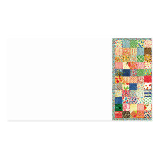 QWL Patchwork Quilt COLORFUL PATTERN BACKGROUND HO Business Card Templates