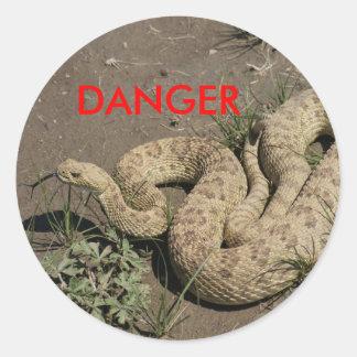 R0006 Rattlesnake Classic Round Sticker
