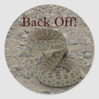 R0009 Prairie Rattlesnake coiled Classic Round Sticker