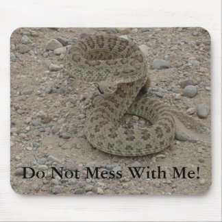R0009 Prairie Rattlesnake coiled Mouse Pad