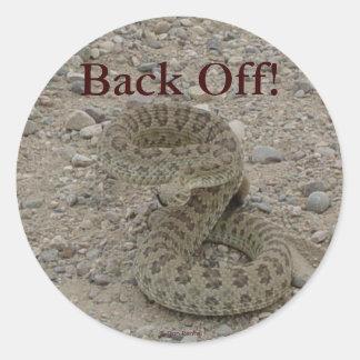 R0009 Prairie Rattlesnake coiled Round Sticker