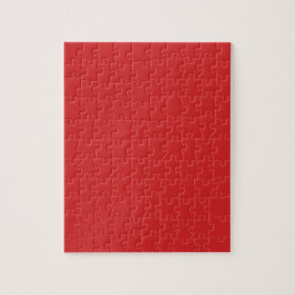 R05 Radiantly Confident Red Color Jigsaw Puzzle