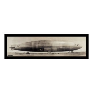 R34 Dirigible Blimp Photo 1910 Poster