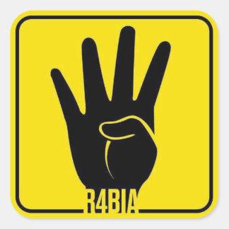 R4BIA, free Egypt, stop Killing Innocents Square Sticker