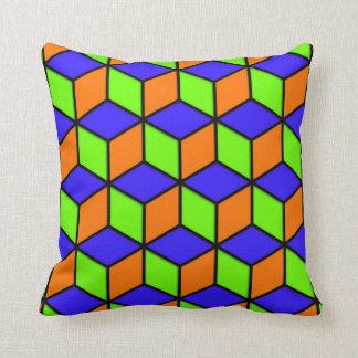 R Cube Look Throw Pillow