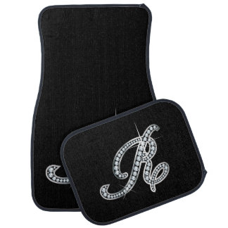 "R Faux-""Diamond Bling"" Car Mat"