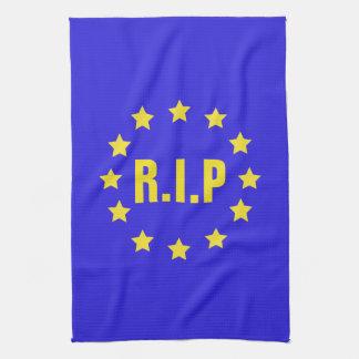 R.I.P EU Flag/Brexit Tea Towel