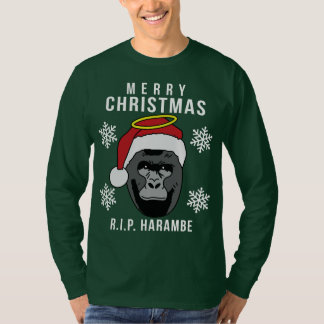 R.I.P. Harambe Ugly Christmas Sweater