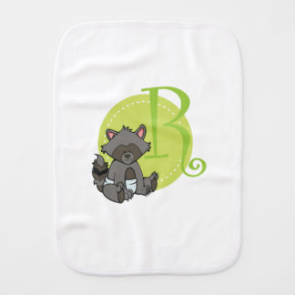 R is for Raccoon Burp Cloth