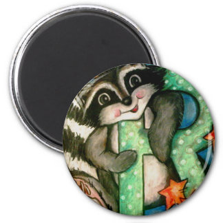 R is for Raccoon Magnet