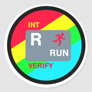 R is for Run Stickert Classic Round Sticker
