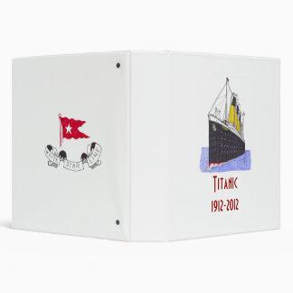R.M.S. Titanic 1912-2012  (front view) Vinyl Binder