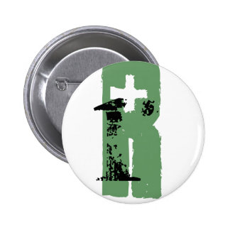 R monogram 2 inch round button