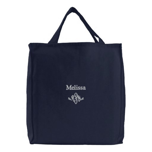 R.P.N.-Personalize Name with Monogram Embroidered Bags