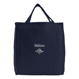 R P N -Personalize Name with Monogram Embroidered Bags