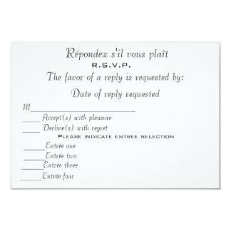 R.S.V.P CARD