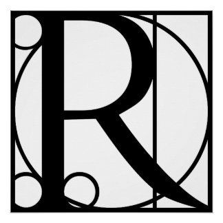 R- Typography Initial Perfect Poster