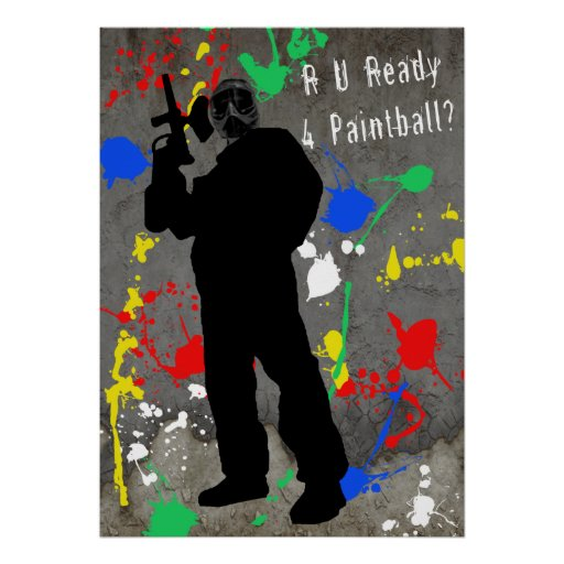 R U Ready 4 Paintball? Print