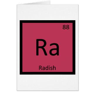 Ra - Radish Vegetable Chemistry Periodic Table Card