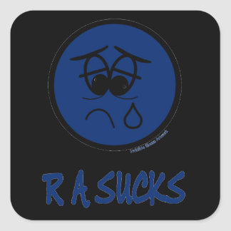 RA Sucks Square Sticker