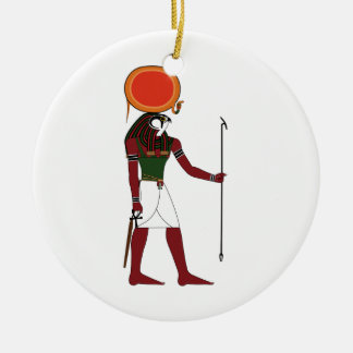 Ra the Ancient Egyptian God of the Sun and Kings Round Ceramic Ornament