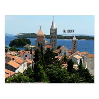 Rab, Croatia landscape photograph Postcard